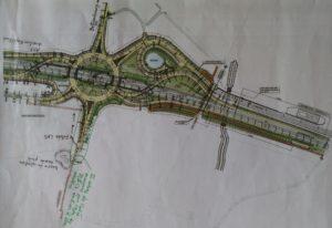 plan échangeur avec arbres marqués N31