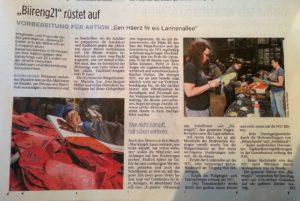 tageblatt 09-06-2016 biireng21 rüstet auf -Häerzer bastelen